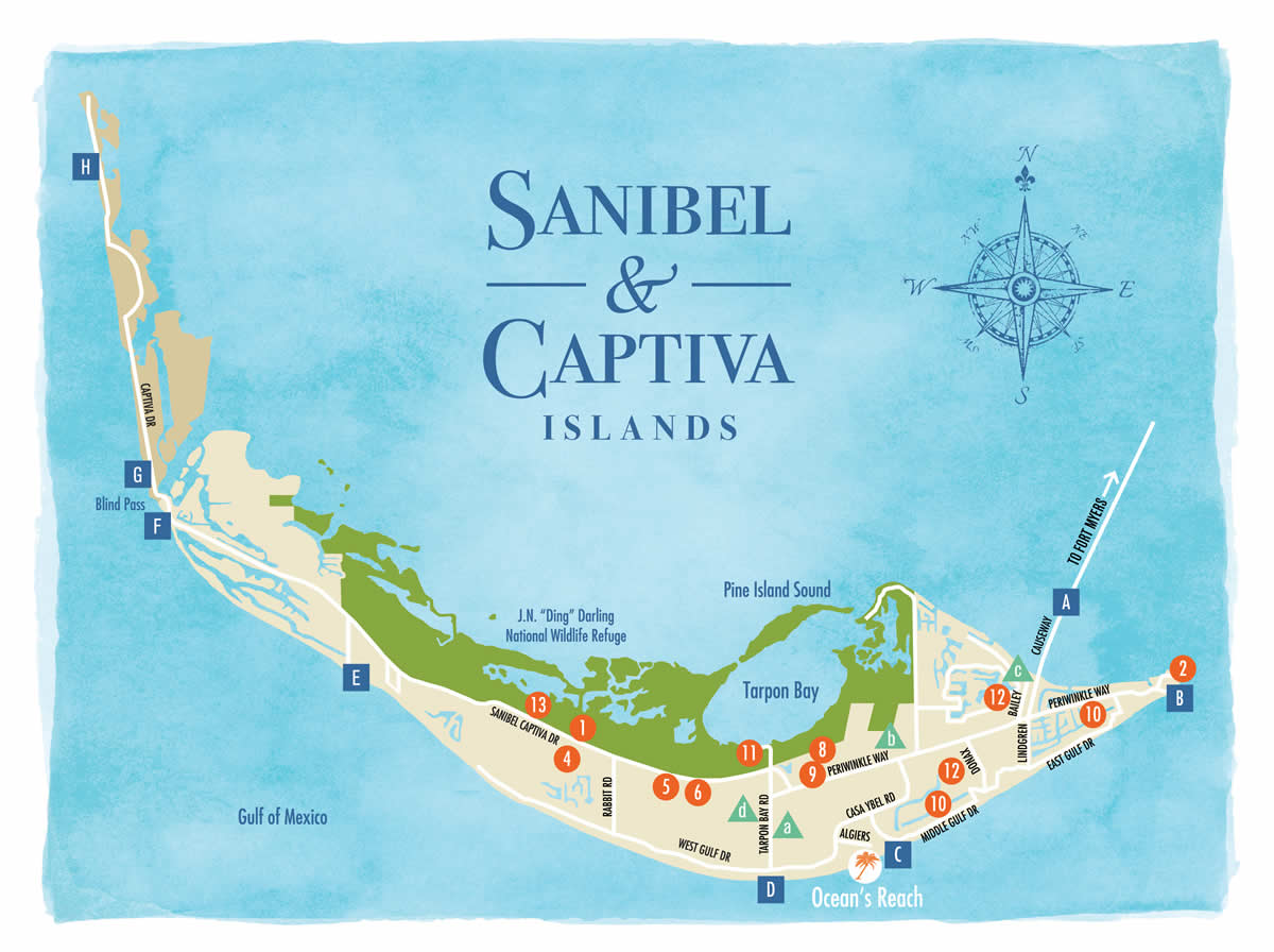 sanibel island florida map