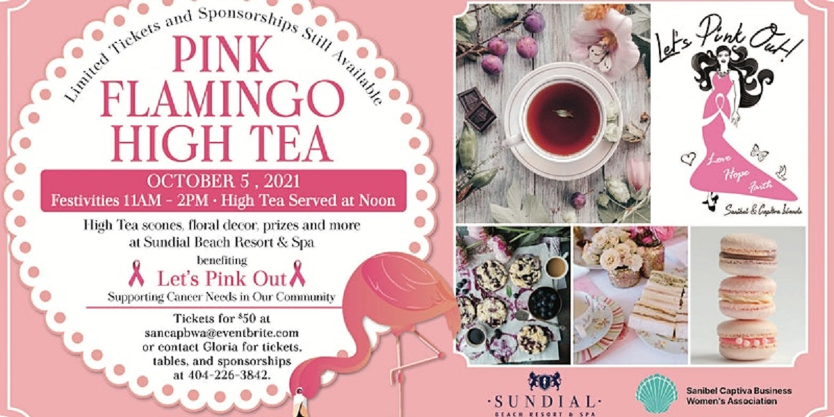 Graphic for Pink Flamingo High Tea on October 5, 2021