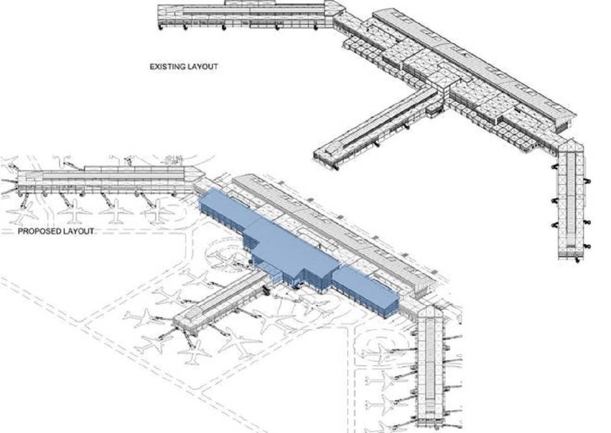 rendering of airport expansion