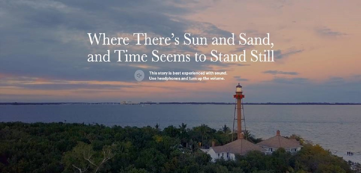 """Photo of Sanibel Island lighthouse with the words """"Where there's sun and sand, and time seems to stand still"""""""